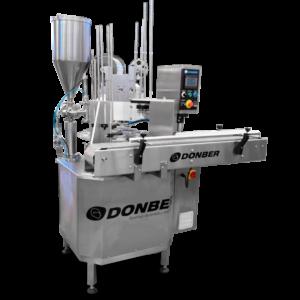 Llenadora rotativa para líquidos/viscosos, modelo R10, marca Donber