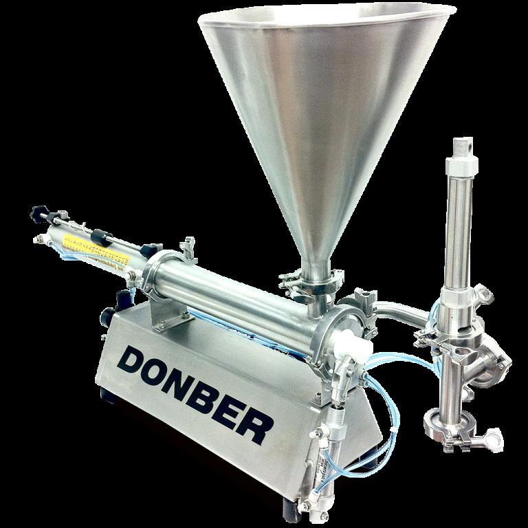 Llenadora mini para productos viscosos modelo Mini Válvula, Marca Donber