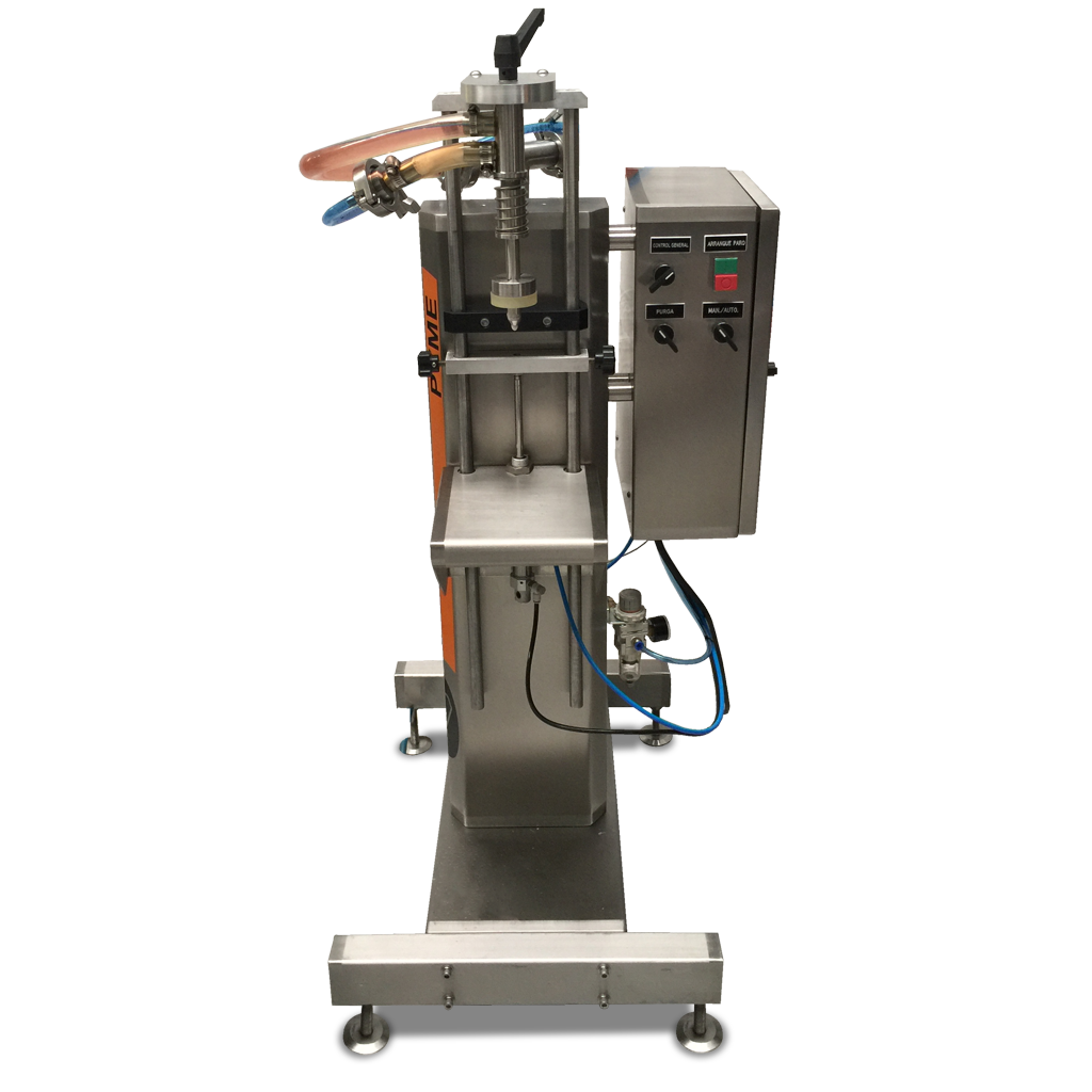 Llenadora para líquidos espumosos, modelo Pyme Nivel, Marca Donber