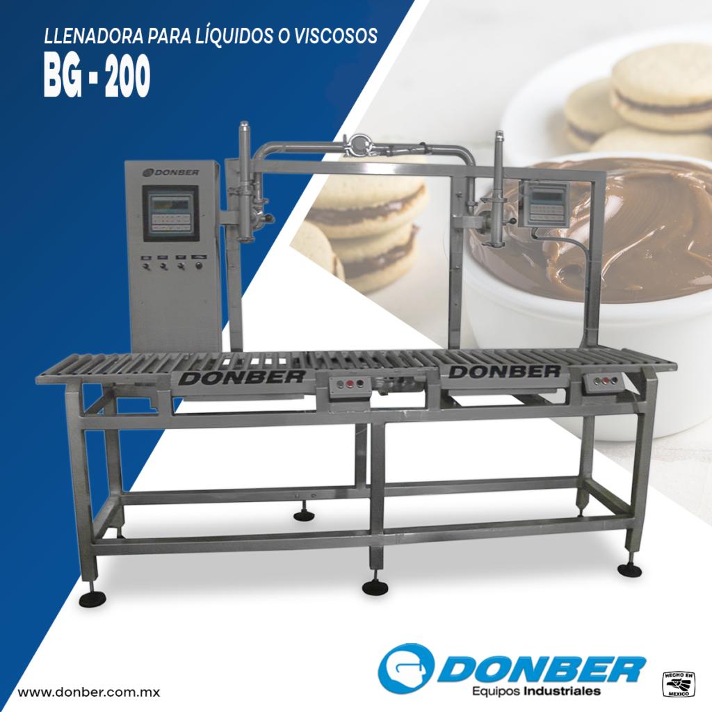 Envasadora para cubetas y tambos de 200L -llenadora de cubeta para viscosos con bascula modelo Bg, marca Donber