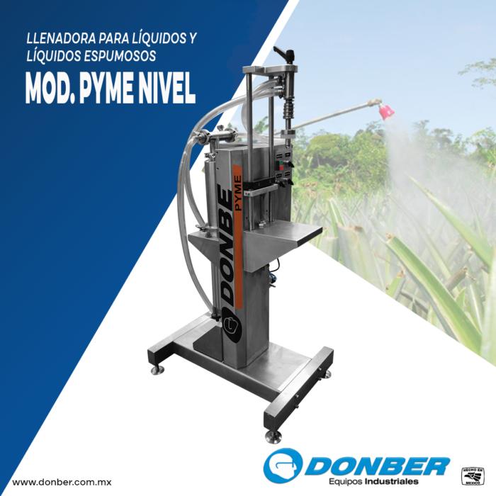 envasadora para líquidos espumosos, modelo Pyme Nivel, Marca Donber