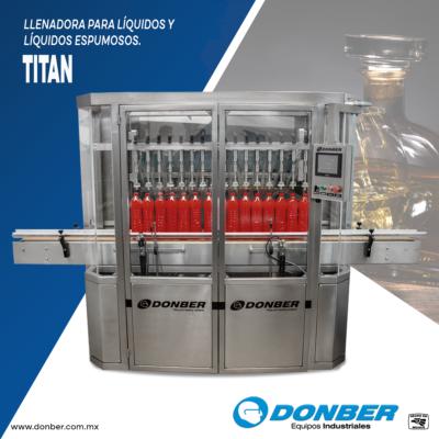 Llenadora para líquidos de 16 boquillas - Modelo Titan- Marca Donber