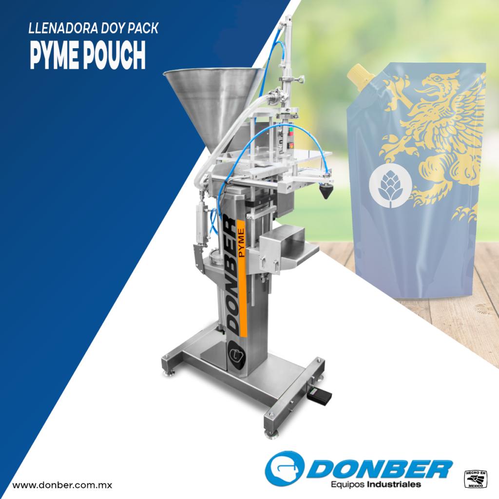 Envasadora para bolsa Pouch, Modelo Pyme Pouch, Marca Donber