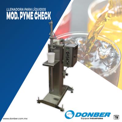 envasadora pyme para líquidos modelo Pyme check, marca Donber