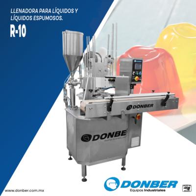 llenadora para viscosos rotativa donber modelo R10