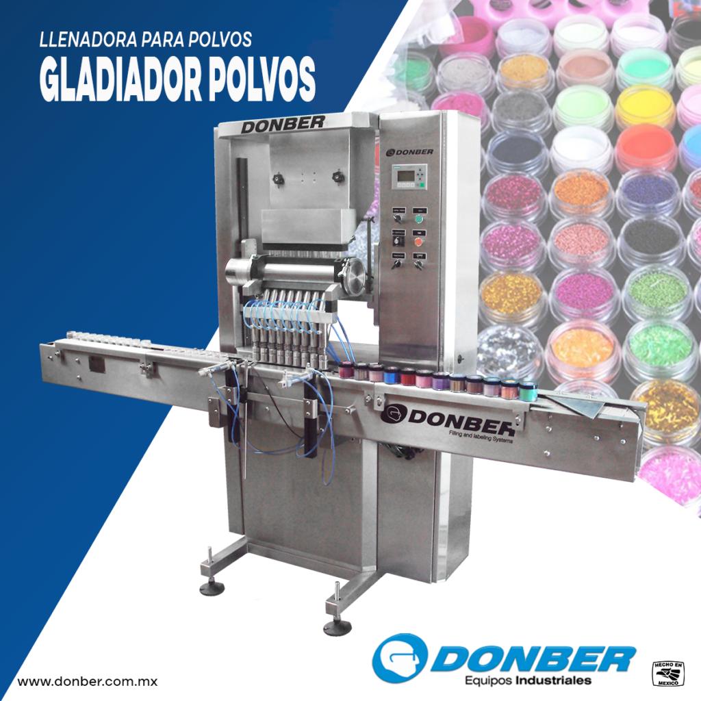 Dosificadora Automática de polvos, Modelo Gladiador de Polvos, Marca Donber