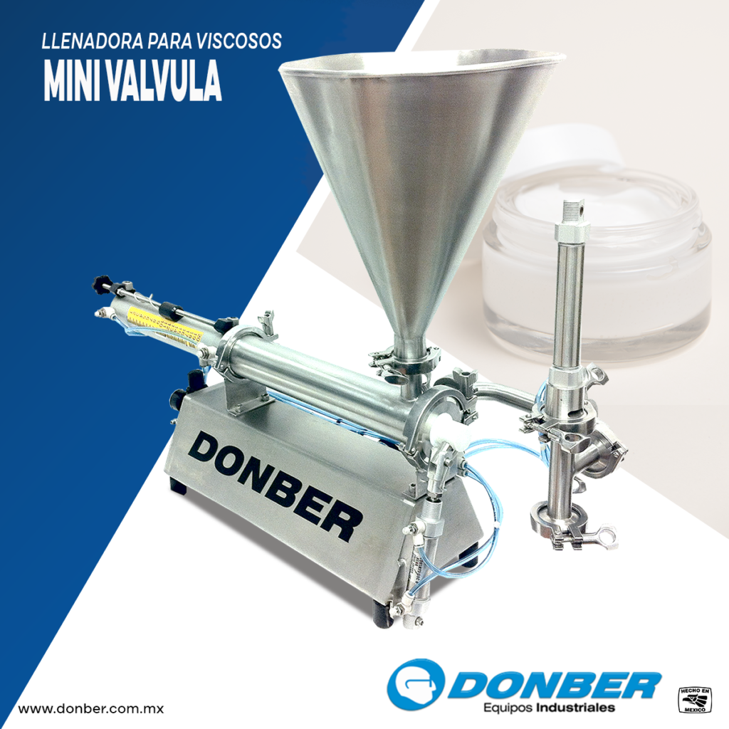 Envasadora para productos viscosos modelo mini válvula marca donber