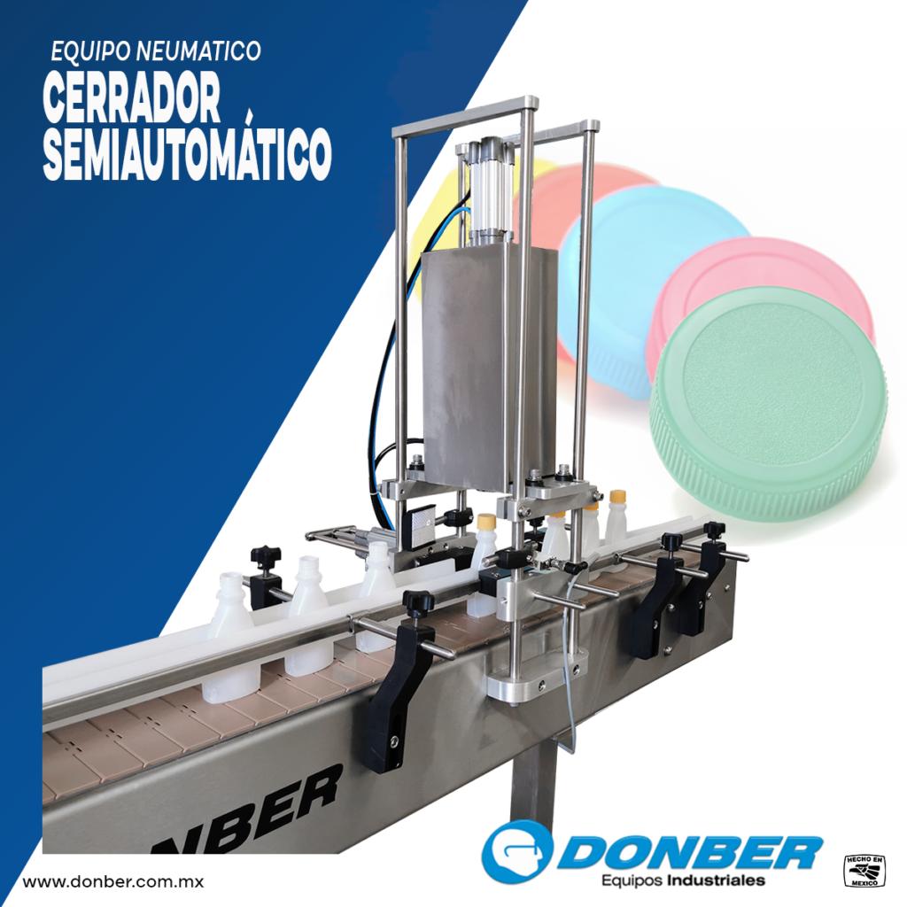 Taponador semiautomático, marca Donber equipos industriales