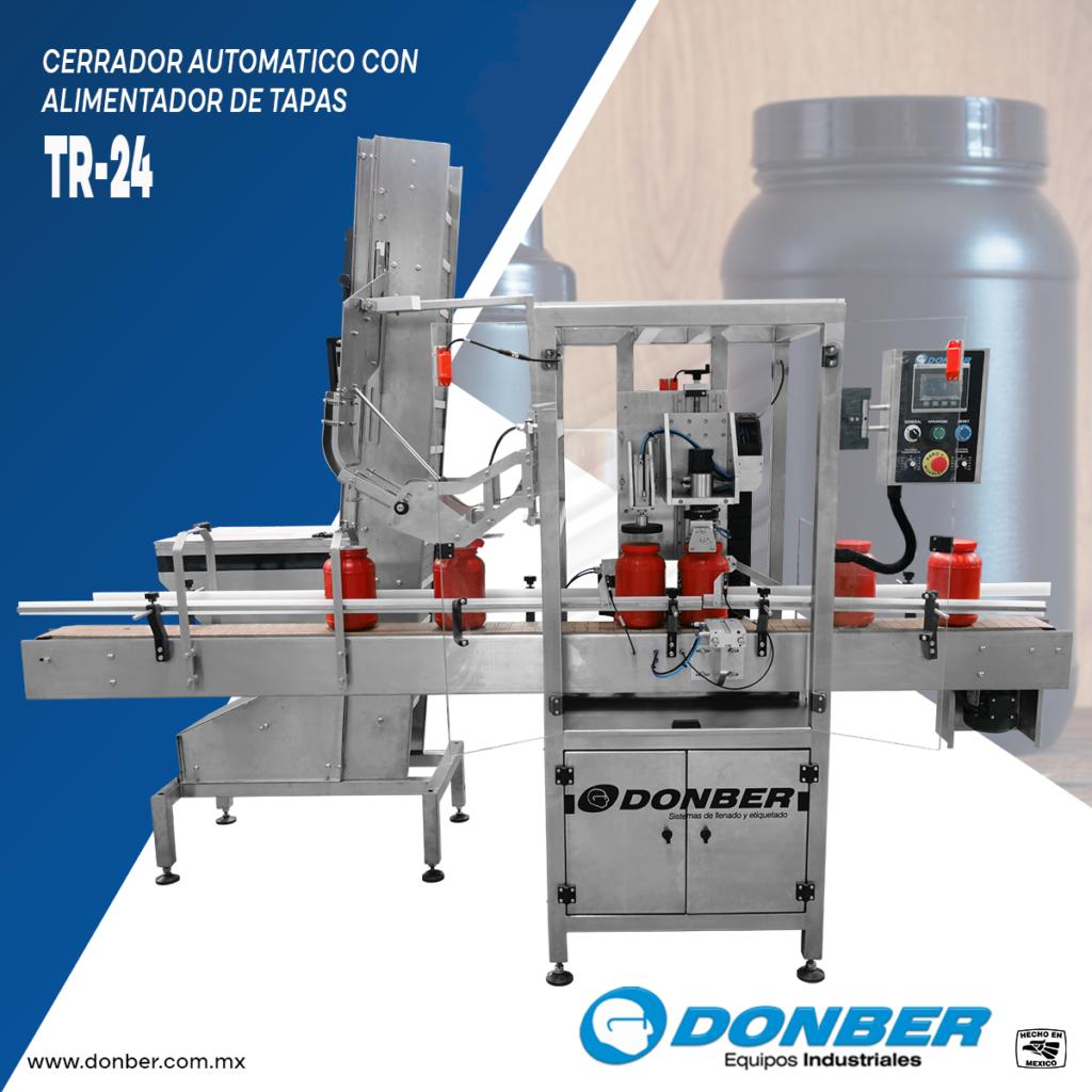 Cerrador con confirmación de torque, Modelo TR-24, Marca Donber equipos industriales.