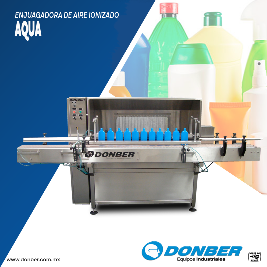 Enjuagadora de envases, Modelo Aqua, Marca Donber